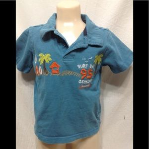 Boy's size 2T OSHKOSH embroidered polo shirt